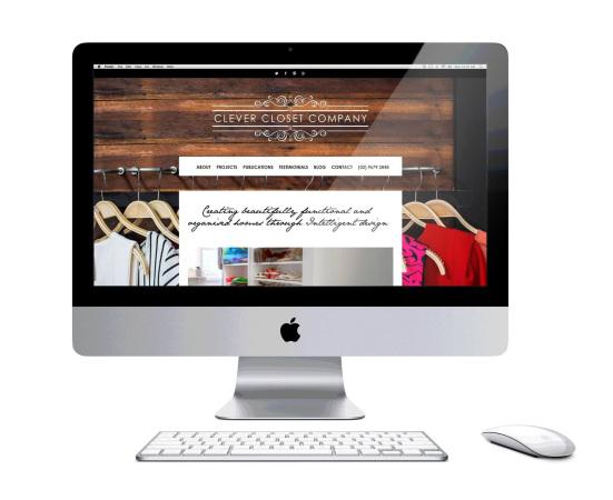clever closet company website web design wordpress website wardrobe design website emma wright em designs